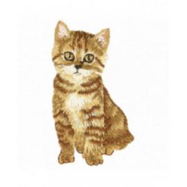 Ecusson thermocollant chat marron 3 cm x 6 cm