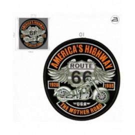 Ecusson thermocollant biker American highway 31 cm x 24 cm