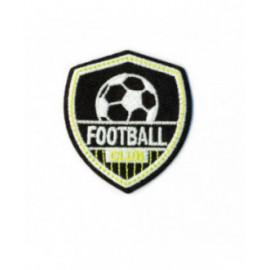 Ecusson thermocollant luminescent football noir 50mm x50mm