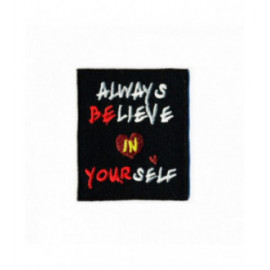 Ecusson thermocollant Believe in yourself 50mm x60mm