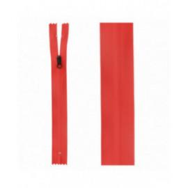Fermeture invisible déperlante 20mm rouge