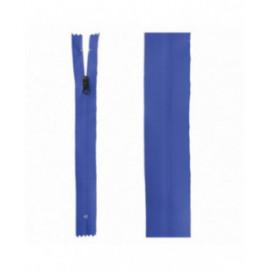 Fermeture invisible déperlante 20mm bleu