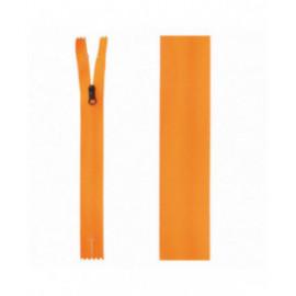 Fermeture invisible déperlante 20mm orange fluo