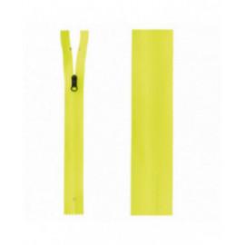 Fermeture invisible déperlante 20mm jaune fluo