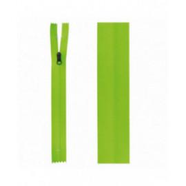 Fermeture invisible déperlante 20mm vert fluo