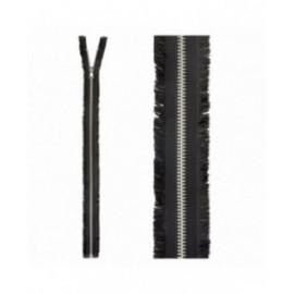 Fermeture séparable à franges noir 50mm