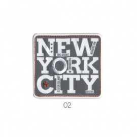 Ecusson thermocollant New York City gris