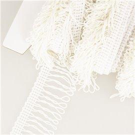 Planchette 25m Frange déco non lavable Blanc 32mm