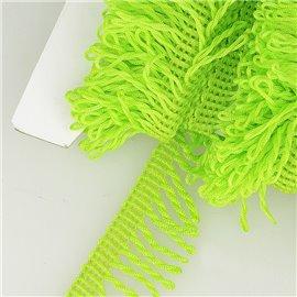 Planchette 25m Frange déco non lavable Vert anis 32mm