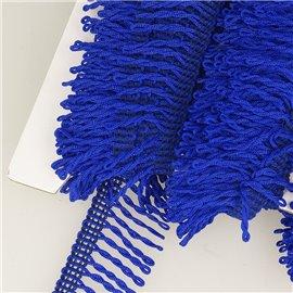 Planchette 25m Frange déco non lavable Bleu roy 32mm