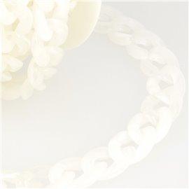 Bobine 5m Chaîne plastique brillant Blanc 20mm
