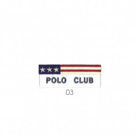 Ecusson thermocollant Polo Club bleu