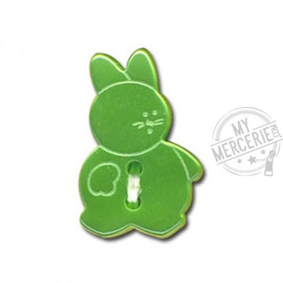 Bouton en forme de Lapin couleur Vert