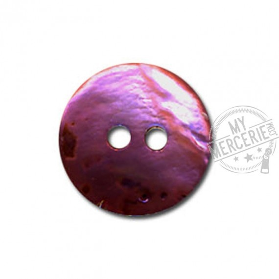 Bouton en Nacre couleur Prune