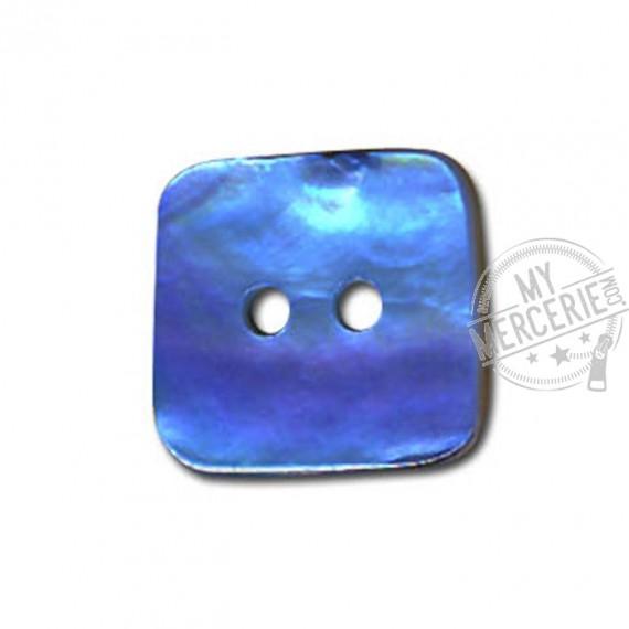 Bouton carré en Nacre couleur Turquoise