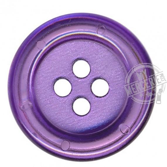 Bouton Clown transparent couleur Prune