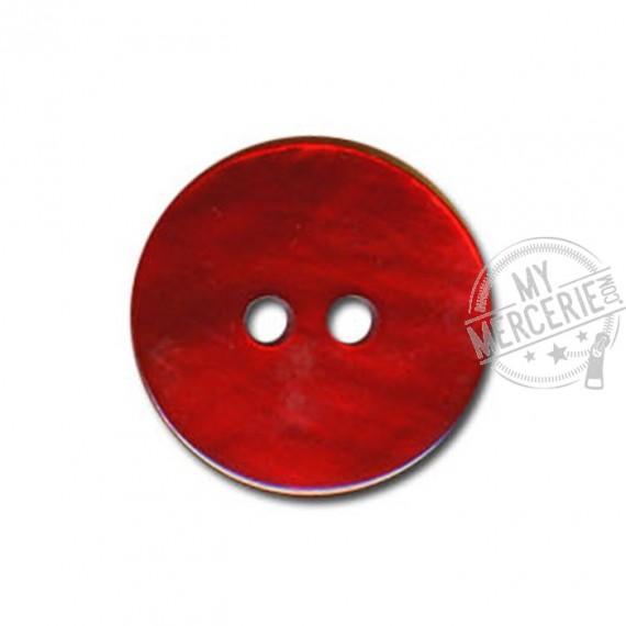 Bouton en Nacre couleur Rouge