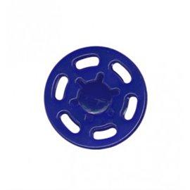 Bouton pression plastique 21mm bleu marine