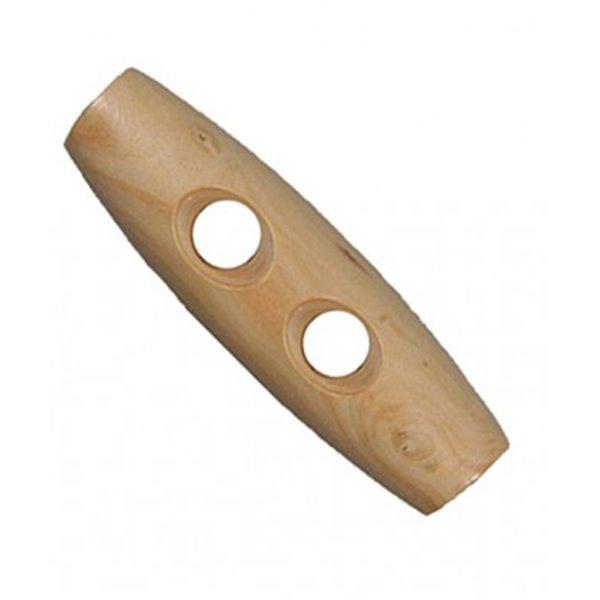 Bouton buchette en bois 2 trous naturel 4cm