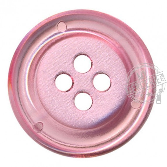 Bouton Clown transparent couleur Rose
