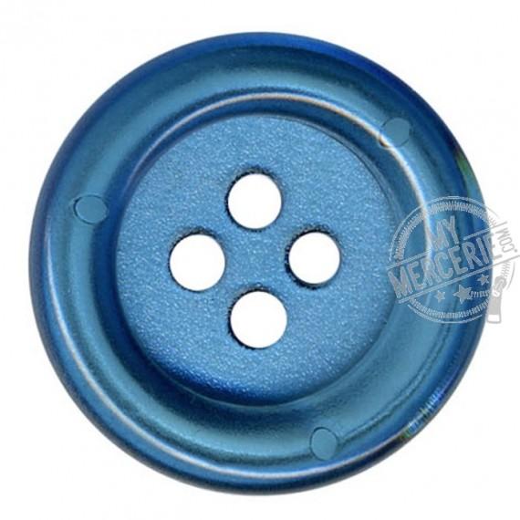Bouton Clown transparent couleur Bleu