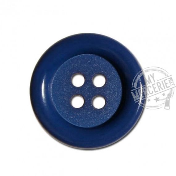 Bouton clown couleur Bleu Minéral