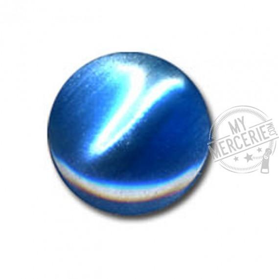 Bouton en forme de Bonbon couleur Bleu