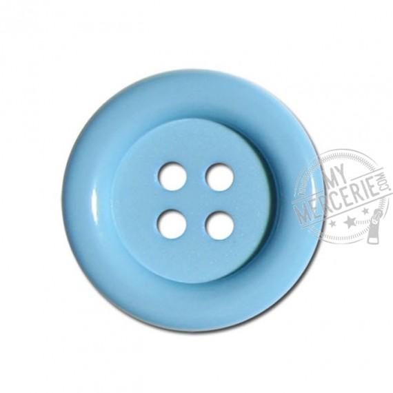 Bouton clown couleur Bleu Layette