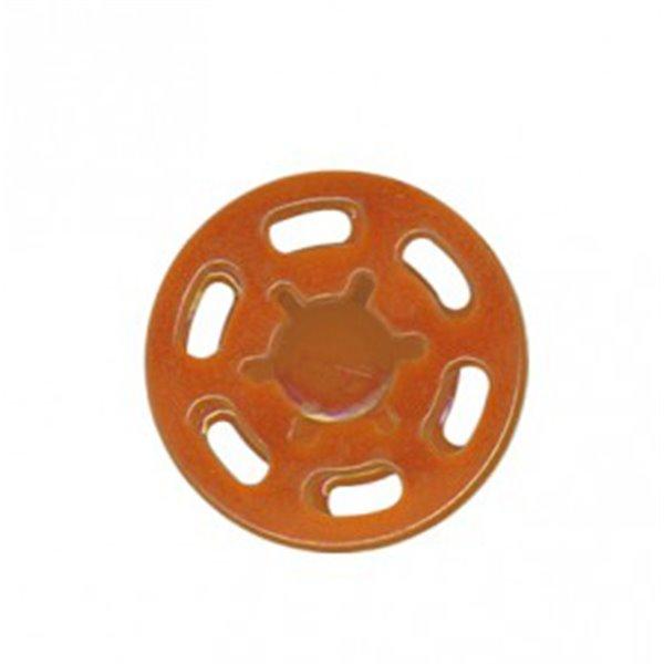 Bouton pression plastique 21mm orange