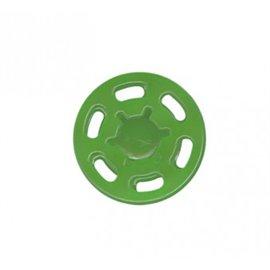 Bouton pression plastique 21mm vert