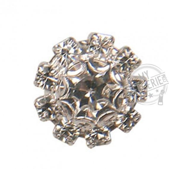 Bouton Strass Cristal rond de 1,5 cm de diamètre