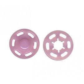 Bouton pression plastique 21mm rose