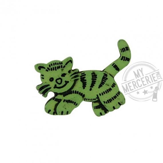 Bouton Petit Chat couleur Vert