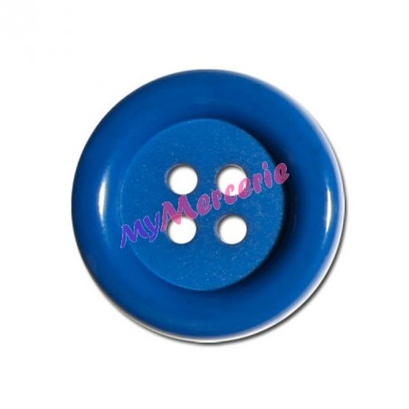 Lot de 6 boutons Clown couleur Bleu Roy