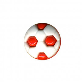 Bouton en forme de ballon de Foot couleur Rouge