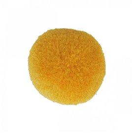 Lot de 9 pompons doux jaune maïs 25mm