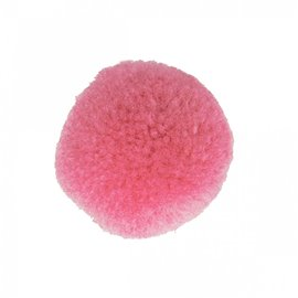 Lot de 9 pompons doux rose laurier 25mm