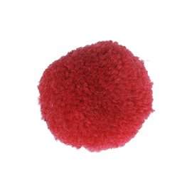 Lot de 9 pompons doux fuschia 25mm