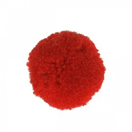 Lot de 9 pompons doux rouge 25mm