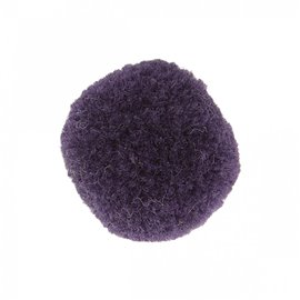 Lot de 9 pompons doux violet lilas 25mm