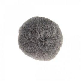 Lot de 9 pompons doux gris cendre 25mm