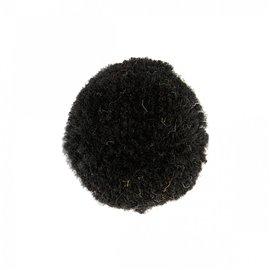 Lot de 9 pompons doux noir 25mm