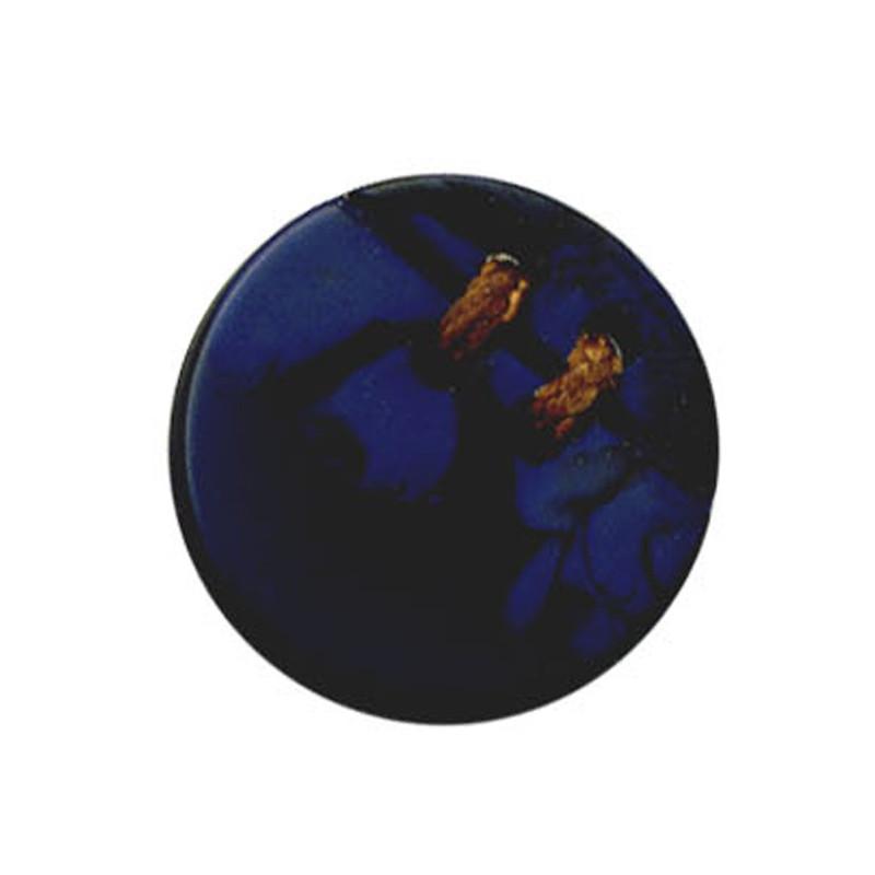 bouton en corozo couleur bleu nuit. Black Bedroom Furniture Sets. Home Design Ideas