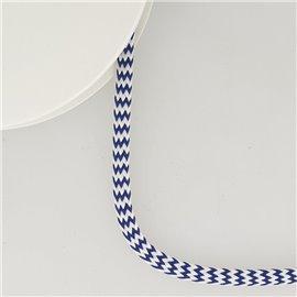 Bobine 25m tresse zigzag 8mm Bleu Marine