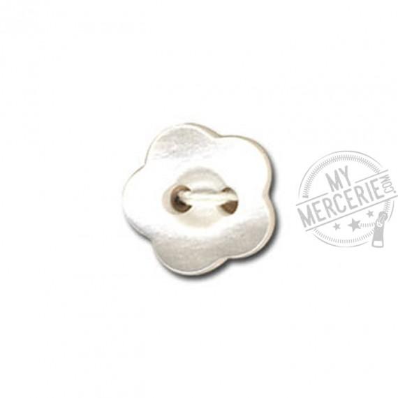 Bouton en forme de Violette couleur Blanc