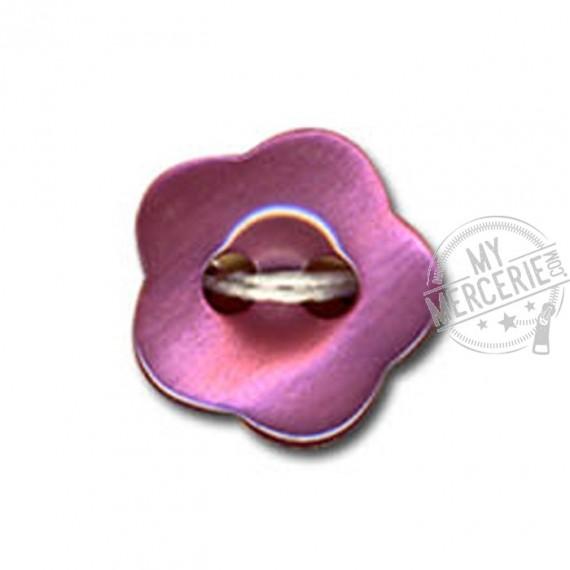 Bouton en forme de Violette couleur Rose