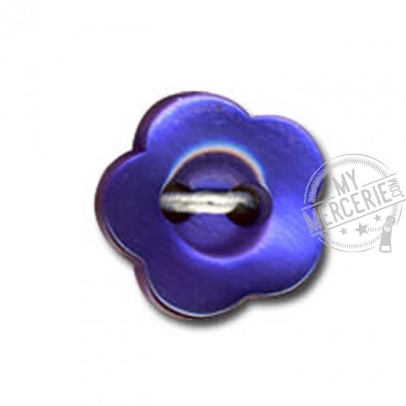 Bouton en forme de Violette couleur Bleu