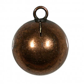 Bouton boule en métal bronze