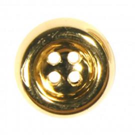 Bouton plat 4 trous doré