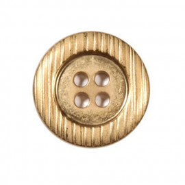 Bouton 4 trous en métal couleur Or vieilli